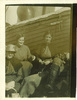 Group, WW1, 3 Nurses taken on the T.Scotian by Miss C Young. Theresa Butler, at back right; Miss Harris and Miss Fricker are the other nurses. Mr Bell was supposed to be in the picture. It was taken on the 10 June 1915. (kindly provided by family) - No known copyright restrictions
