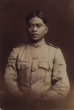 Portrait of Lance Corporal Robert Ngapo. Image kindly provided by Tekau Framhein via Kees De Boer - No known copyright restrictions