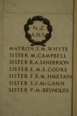 Auckland War Memorial Museum, World War 1 Hall of Memories Panel N.Z.A.N.S. (photo J Halpin 2010) - No known copyright restrictions