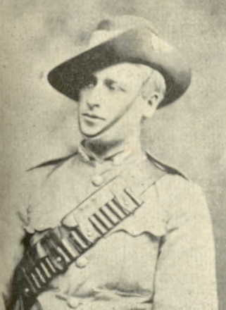 Portrait, Anglo Boer War uniform, hat, leather bandolier - No known copyright restrictions