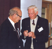Doug Morrison recieving award from Murray Adlington - This image may be subject to copyright