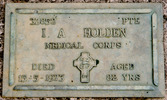 Headstone at Otahuhu Cemetery, Auckland provided by Paul F. Baker 2010 - No known copyright restrictions