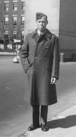 F.A. Cardwell taken in 1943 in uniform coat - This image may be subject to copyright