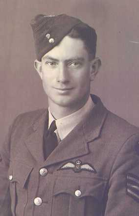 Portrait, Leslie Hamilton Dobbs with his pilot wings and three stripes on his jacket - This image may be subject to copyright