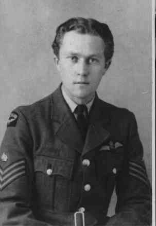 Portrait, Alfred Clinton Lyall in Royal New Zealand Air Force Uniform - This image may be subject to copyright