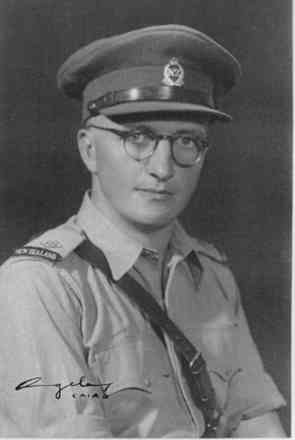 Portrait, Archibald Charles Manning, taken in November 1943 in Cairo about the time he was commissioned. - This image may be subject to copyright