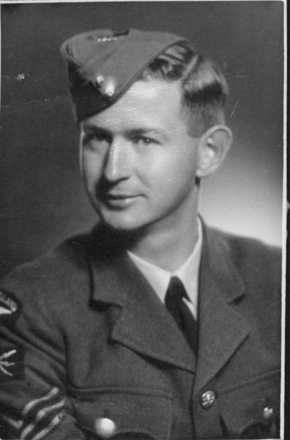 Sergeant Parkinson taken in 1944. - This image may be subject to copyright