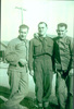 Group, WW2, three soldiers, Leslie Dike standing on right with cigarette in his left hand (kindly provided by family) - This image may be subject to copyright