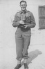 Portrait, WW2, Ron Withell (9274) holding the New Zealand Army Light Heavyweight Boxing Cup, Maadi, Egypt - This image may be subject to copyright