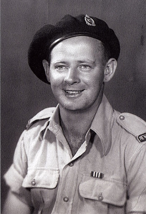 Portrait wearing Military Medal ribbon (kindly provided by family) - This image may be subject to copyright