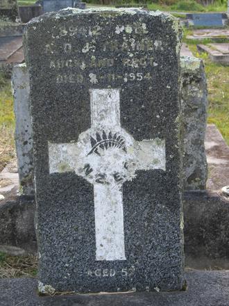 Headstone, Albert Diamond Jubilee Trainer (89412), Waikumete Cemetery (photo Sarndra Lees 2013) - Image has All Rights Reserved.