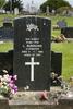 Headstone, Waiuku Cemetery, (photo J. Halpin 2012) - This image may be subject to copyright
