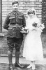 Wedding photograph: Arthur Berry and Louise Kitchener 1 April 1918 - No known copyright restrictions