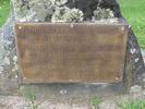 Memorial plaque, Arthur Noel Brown and Geoffrey McPherson Brown, Brown Street, Takapuna (photo: Sarndra Lees, 2013) - Image has All Rights Reserved.