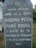 Memorial stone, Tu Auau Marae, Reporua, New Zealand detail (photo kindly provided by whanau) - No known copyright restrictions
