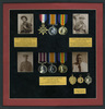 Medals and photographs, framed, of Charles Joseph Hume (3/2619), James Alison Hume (6/3355), Richard Askew Hume (6/3356), three brothers who served in WWI - No known copyright restrictions