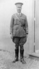 Portrait, Major F Ross full length, outside wooden building standing on gravel, cap, jodpurs, boots - No known copyright restrictions