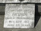 Family grave memorial, Waikaraka Public Cemetery, parents grave, detail Memorial plaque (Photo courtesy S Lees 2009) - No known copyright restrictions