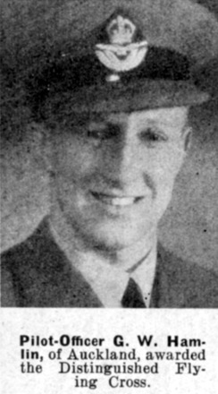 Portrait of Pilot Officer Graham Wellesley Hamlin, Auckland Weekly News, 1 October 1941. Sir George Grey Special Collections, Auckland Libraries, AWNS-19411001-27-34. Image has no known copyright restrictions.