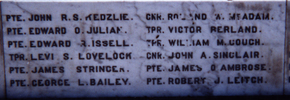 Featherston memorial, name detail - No known copyright restrictions