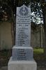 Tomarata Memorial front, WW1 names detail (photo J. Halpin November, 2010) - No known copyright restrictions