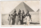 Group, WW2, soldiers all friends riding camels in Egypt March 1941. Left to Right: Joe Caewood, Charles Kirby, Jack Tate, Horace Partington (38417) (kindly provided by family) - This image may be subject to copyright