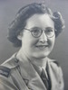 Portrait, WW2, WAAC, studio photograph Madge (nee Tyson) Callaghan (kindly provided by family) - This image may be subject to copyright