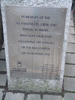 Memorial plaque, Dun Laoghaire (photo G. Fortune 2006) - Image has All Rights Reserved