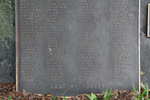 Takapuna War Memorial, (ex RSA Roll, on a boulder) detail, (photo John Halpin, August 2013) - CC BY John Halpin