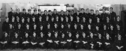 Group, WW2, Air Force Class, Canada, including Arnold George Christensen (NZ413380) back, the young short man 7th from the right, (kindly provided by Howard Buxton 2013) - This image may be subject to copyright