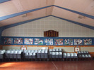Helensville District High School (Kaipara College) Roll of Honour, view of the Roll in the school gymnasium (photo G.A. Fortune April 2010) - Image has All Rights Reserved