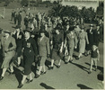 ANZAC parade in Auckland in the 1950s. Aunty Theresa Butler is the one with the MBE. (kindly provided by family) - No known copyright restrictions