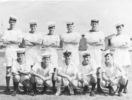 Group photo, 11 ratings with Ian in rear row, second from left, c. 1943. - This image may be subject to copyright