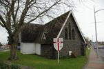 Selwyn Chapel at Christ Church (Anglican), Papakura, Auckland, view 1 with Memorial Stone laid 1922 (photo John Halpin 2010) - CC BY John Halpin