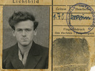 """POW portrait, John W Mayhead POW photo with """"Officially Interrogated"""" stamp - This image may be subject to copyright"""