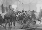 Boxers, WW2 inside, larking around inside a shed at Maadi, Egypt. Ron Withell (9274) on left - This image may be subject to copyright