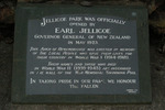 Dedication tablet, Onehunga Arch of Remembrance, Jellicoe Park (photo John Halpin, March 2012) - CC BY John Halpin