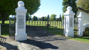 View, Memorial gates, Katikati (photo G.A. Fortune, March 2013) - Image has All Rights Reserved