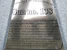 Porongia Memorial Hall, Hotchkiss Gun No 138 Gun plaque (photo May 2010) - No known copyright restrictions