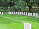 Graves, including Arnold George Christensen (NZ413380), 4th from left, Poznan Old Garrison Cemetery, Poland (kindly provided by Howard Buxton 2013) - This image may be subject to copyright