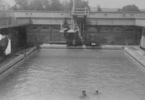 Vailima, left figure in Parnell swimming pool c1940's - This image may be subject to copyright