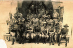 Group, soldiers, Cairo, 7657 Herbert (Roy) Winchcombe (front row, 3rd from right) - This image may be subject to copyright
