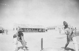 Cricket match, WW2 at Maadi, Egypt. Ron Withell (9274) batting. - This image may be subject to copyright