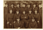 Group Portrait of Staff Headquarters, 7th Infantry Brigade, Waiouru, May 1943. Frederick Stuart Varnham is in the middle of the middle row. Image may be subject to copyright restrictions.