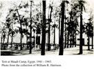 Tent (Social Club) at Maadi, Egypt, 1941-43. - This image may be subject to copyright