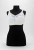 brassiere; white cotton with nylon lace upper; rei...