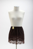 Dark brown nylon half slip with elasticated waist ...