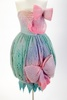 dress, evening; mohair; dyed in pastel tones- pink...