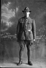 Full length portrait of Sapper Harold David Blake of the NZE 14th Reinforcements (Photographer: Herman Schmidt, 1916). Sir George Grey Special Collections, Auckland Libraries, 31-B1471. No known copyright.