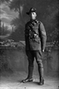 Full portrait of Sergeant Stanley Wellington Bagnall, Reg No 17362, New Zealand Mounted Rifles 18th Reinforcements. (Photographer: Herman Schmidt, 1916). Sir George Grey Special Collections, Auckland Libraries, 31-B1917. No known copyright.
